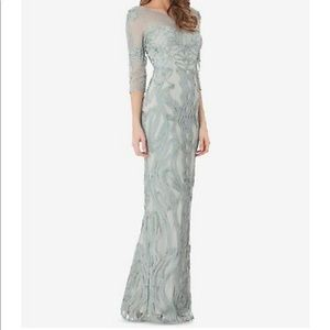 Js collections green/mint gown
